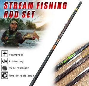 Ultralight SuperHard Portable Comfortable Handle Telescopic Fishing Rod Pole