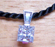 Genuine, Solid 14k White Gold & Cz Pendant *Not Scrap Perfect Condition New Gift
