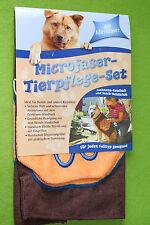 Microfaser-Tierpflege-Set, 70 x 40 cm + Handschuh, Hunde Handtuch