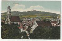 Ansichtskarte Amberg - Blick auf den Ort mit Kirche und Burg/Schloß - 1911