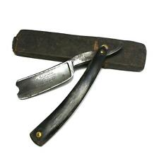 Antique Wade & Butcher FOR BARBER'S USE 9/8 Chopper Blade Straight Razor w/ Case