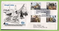 G.B. 1981 Fishing set on F.M.A. official First Day Cover, Buckie