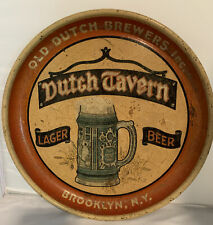 "Old Dutch Brewers Inc Dutch Tavern Lager Beer Tray Brooklyn NY 12 3/4"" OLD"