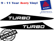 TURBO Decal Sticker for Hilux 2 Fin Small Bonnet Scoop 2005 TO 2011 4X4