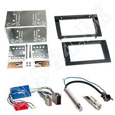 AUDI A4 B6/B7 DOPPEL-DIN Autoradio Blende mit ISO Adapter Aktivsystem OHNE BOSE