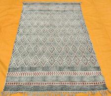 4'X6'ft Handwoven Flatweave Hand Block Print Area Rug Dhurrie Handmade Kilim Rug