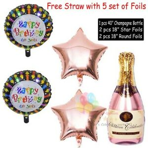 Self Inflating Foil Shaped BALLOONS Happy Birthday Balloons UK Seller