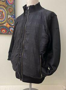Schott - Men's Black Nylon&Cotton Long Sleeve Zip Thru Casual Jacket - XL