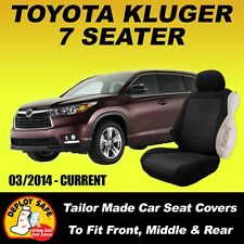 Car Seat Covers for Toyota Kluger 7 Seater,  3 Rows 03/2014-Current Airbag Safe!