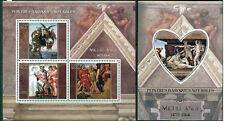 Michelangelo - Baroque art - Madagascar MNH set 4val +s/s