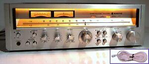 🔥【PRO SERVICED】'78 Sanyo JCX 2400K Stereo 110W Receiver! Phono💥60-DAY GUARANTY