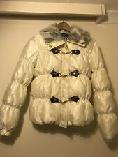 Women's Ladies La Chapelle Sport Beige Fur Jacket Size Uk 12