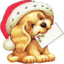 30 Custom Holiday Puppy Mail Personalized Address Labels
