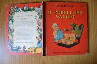 LIBRO WALT DISNEY IL PORCELLINO SAGGIO 1950 ORIGINALE MONDADORI EDITORE