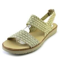 Sandalias y chanclas de mujer de color principal oro de lona Talla 36.5