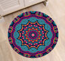 Creative Mandala Pattern Yoga Mat Area Rugs Floor Bathmat Round Non-slip Carpet