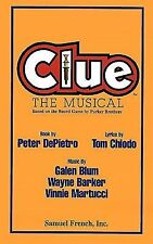 Clue : The Musical, Based on the Board Game by Parker Brothers (1997, Hardcover)
