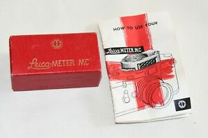 Vintage Leica-Meter MC Light Meter Box and Instructions ONLY