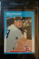 1987 FLEER UPDATE GLOSSY #U-37 MIKE GREENWELL ROOKIE CARD RC BOSTON RED SOX MINT