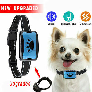 Dog No Bark Collar Small Medium Large Dogs Anti Barking Control Training Equipme
