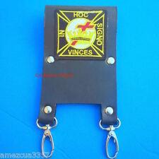Knight Templar Masonic Belt Sword Scabbard Holder Silver hardware York Rite