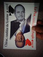 Tract Politique Campagne Electorale 2002 Comparatif J.M Le Pen / Jacques Chirac