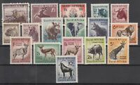 Z4681/ BRITISH SOUTH AFRICA – Y&T # 196 / 198 – 201 / 214 COMPLETE MINT MNH