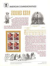 #237 22c Jerome Kern #2110 USPS Commemorative Stamp Panel