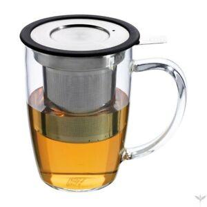 Forlife Newleaf Glass Tea Mug with Infuser (Black) from Tea People