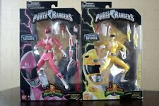 "METALLIC PINK & YELLOW RANGER 6.5"" Power Rangers Legacy figure w/ weapons bow"