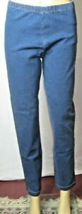 Vintage Blue Size Small Cute and Comfy Stretch Pull On Jean Style Pants