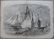 1861 Harper's Weekly Engravings - CIVIL WAR - USS St. Lawrence & Union Blockade