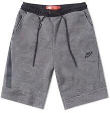 Nike Mens Tech Shorts Carbon Heather & Black Print 832124-091 Size 3XL