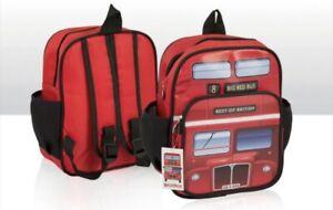 LONDON  RED BUS KIDS SCHOOL BAG BACKPACK RUCKSACK SOUVENIR GIFT