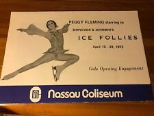 HISTORIC Nassau Coliseum Grand Opening Folder Peggy Fleming ABA Johnny Cash