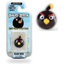 Angry Birds Mini Glass Sculpture Collectible - Black Bird, NIP, Mint!