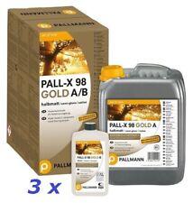 Pallmann Pall-X 98 Gold (Halbmatt) - 3 x 4,95 L * Parkettlack 2-K *