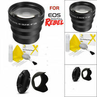 58MM 3.5x TELEPHOTO ZOOM MACRO LENS FOR CANON EOS REBEL T3 T3I T4 T5 T5I T6 T7
