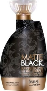 Devoted Creations Matte Black Skin Repair Tanning Dark Bronzer Lotion - 400ml