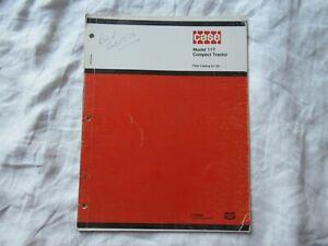 Case 117 lawn garden tractor parts catalog manual book