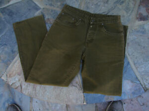Patagonia Men's Olive Green Jeans Organic Cotton Size 32x30