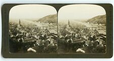 STEREOSCOPE / STEREOVIEW H.C WHITE / HEIDELBERG AND THE RIVER GERMANY ALLEMAGNE