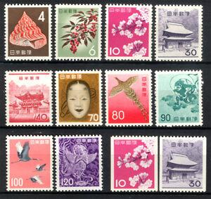 JAPAN  1961-65 Definitives 3rd Unit complete set  inc. COILS Sk# 372-83 mint MH