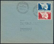 SAARLAND 1948, MiNr. 260-261, 260-61, Ersttagsbrief, Mi. 50,-