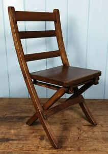 Chair Child's Children's 1930s Folding Pine Vintage Made In England