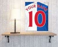 Derby County Themed Shirt Kit Your name /& Number Football Canvas Print Wall Art