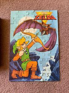 1980's COMPLETE Legend Of Zelda Milton Bradley Jigsaw Puzzle, RARE, NES Nintendo