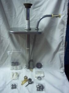Condiment syrup pump dispencer Server Product Stainless Steel w/extra parts!