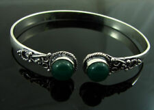 925 Silver plated Green Onyx Stone antique ethnic Indian Bracelet 1528