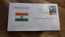 1980 IOC OLYMPIC GAMES STAMP ISSUE FDC, INDIA IOC ISSUE